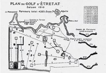 plan du golf d'étretat