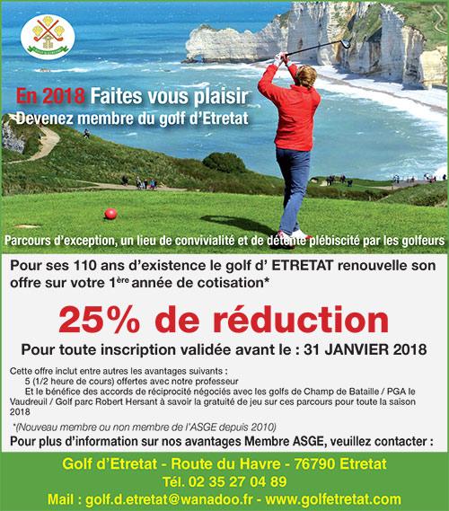promo abonnement golf etretat