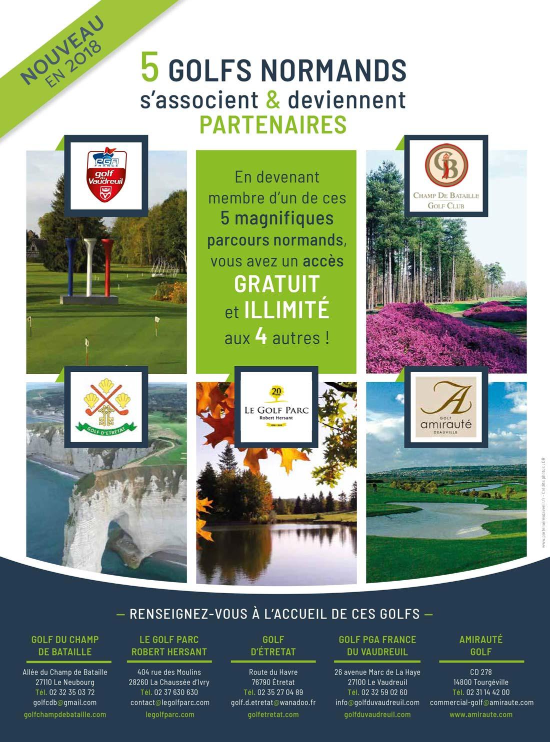 5 golfs normands partenaires