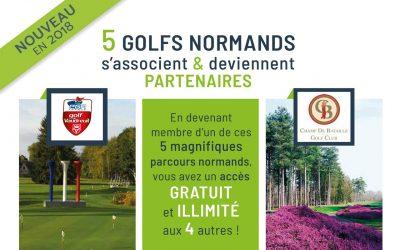 Nouveau: 5 Golfs Normands partenaires