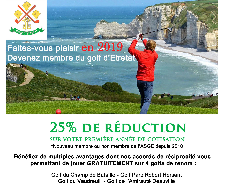 Devenez membre du golf d'Etretat